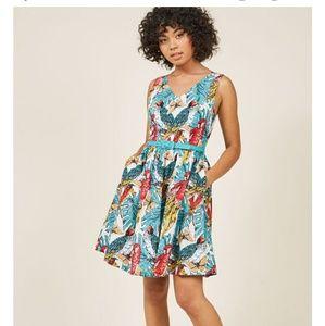 👠Modcloth Take up Space A-line cotton dress w/poc